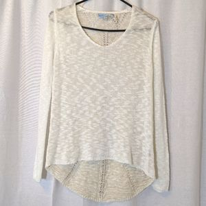 3 For $15 Cecico Cream Soft Crochet Sweater Sz M